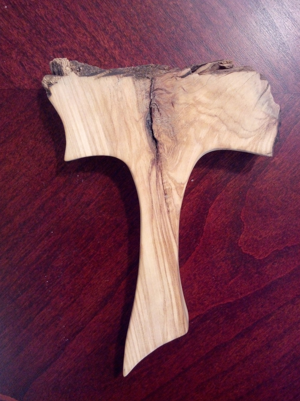 Tau Cross made out of olive wood